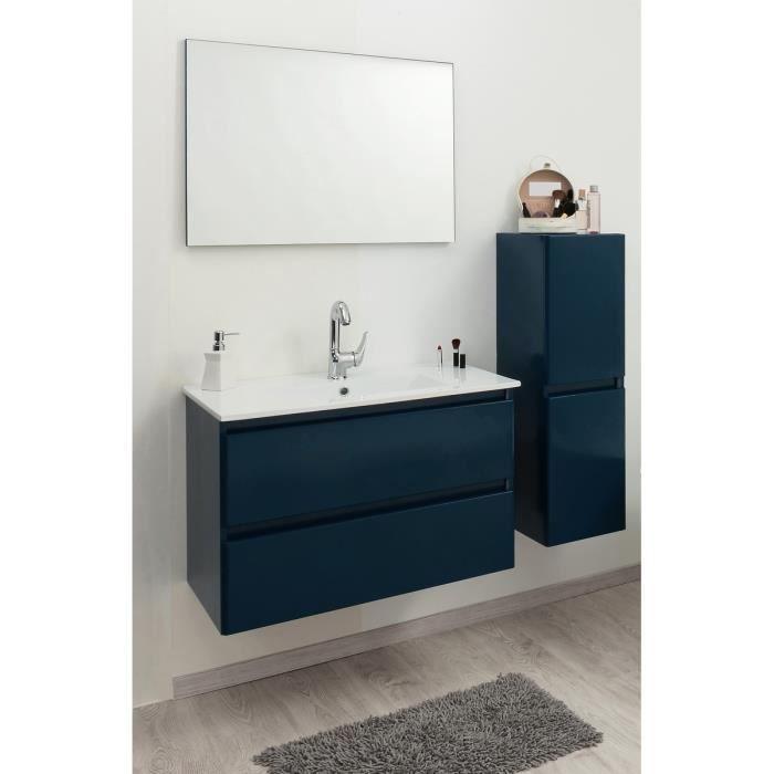 Bely salle de bain compl te en bois simple vasque 61 cm bleu achat vent - Vasque bleue salle de bain ...