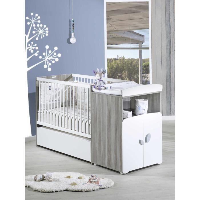 baby price new leaf lit combin evolutif 60x120 cm avec tiroir achat vente chambre compl te. Black Bedroom Furniture Sets. Home Design Ideas