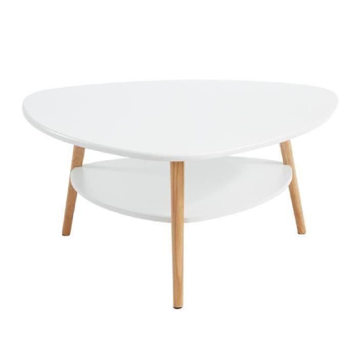 augustine table basse 80x80 cm - laqué blanc satiné - achat