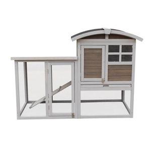 CLAPIER Clapier en bois Home 130x62x91 cm - Pour lapin
