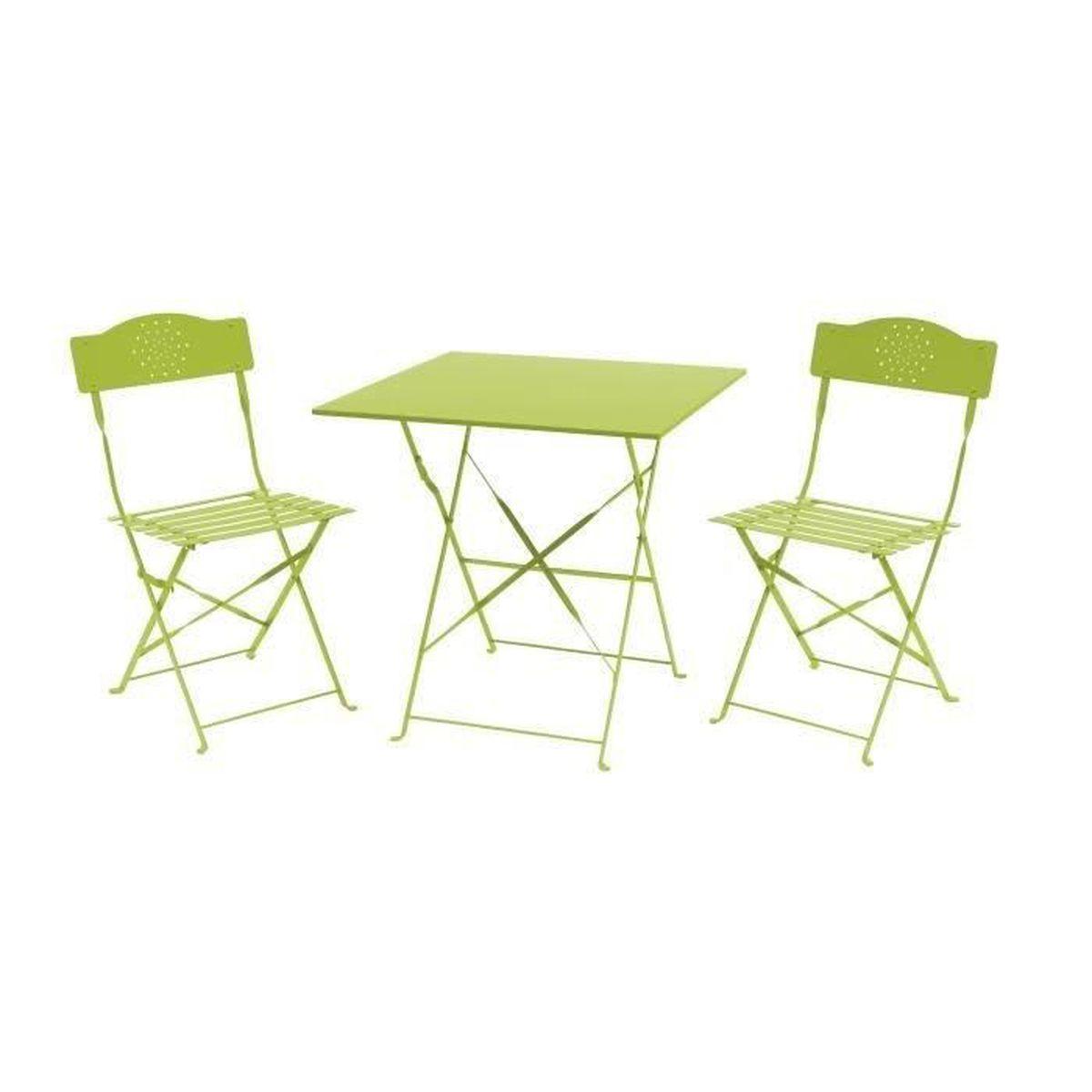Table pliante 2 chaise achat vente pas cher - Table de jardin bistrot ...