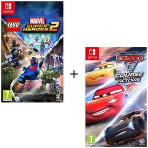 NINTENDO SWITCH Pack 2 jeux Switch : Cars 3 + Lego Marvel Super He
