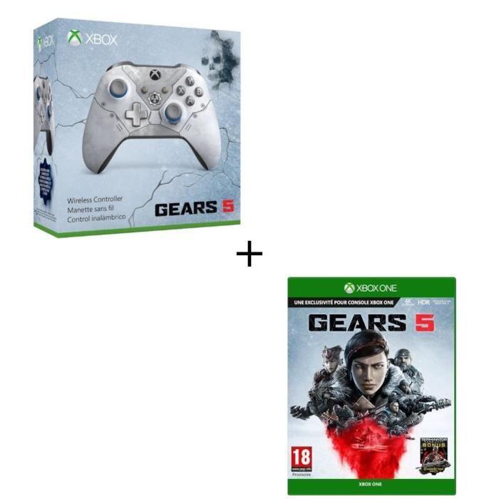 JEU XBOX ONE Manette Xbox Sans Fil Edition Spéciale Gears 5 + J
