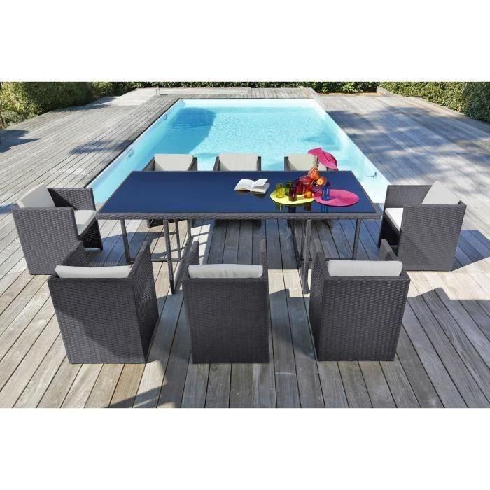 salon de jardin 8 personnes achat vente salon de. Black Bedroom Furniture Sets. Home Design Ideas