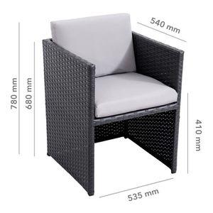 Table et chaise de jardin en aluminium - Achat / Vente Table et ...