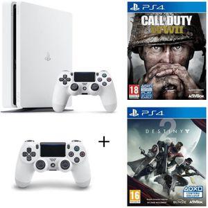CONSOLE PS4 NOUVEAUTÉ Pack Nouvelle PS4 Slim 500 Go Châssis E + Manette