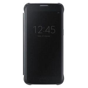 HOUSSE - ÉTUI Samsung Clear View Cover S7 Edge - Noir