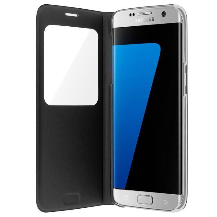 Samsung Etui S View Cover S7 Edge - Noir - Achat housse - étui pas ... 358d9acfddf3