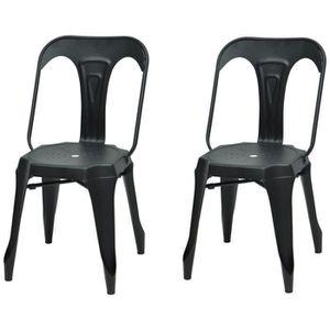chaises industriel achat vente chaises industriel pas cher cdiscount. Black Bedroom Furniture Sets. Home Design Ideas