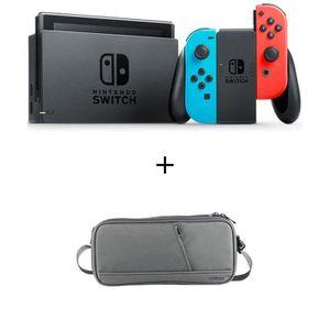 CONSOLE NINTENDO SWITCH Pack Nintendo Switch Néon + une sachoche de transp