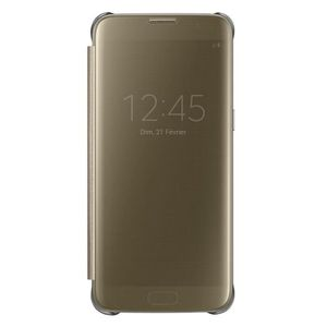 HOUSSE - ÉTUI Samsung Clear View Cover S7 Edge - Or