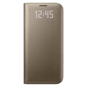 COQUE - BUMPER Samsung Etui LED View Cover S7 Edge - Or