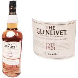 WHISKY BOURBON SCOTCH Glenlivet Reserve Solera 1L 40%
