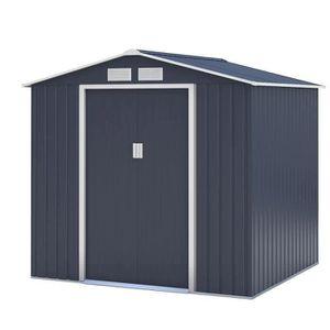 ABRI JARDIN - CHALET Abri de jardin en métal 4,07m² - 2 portes coulissa