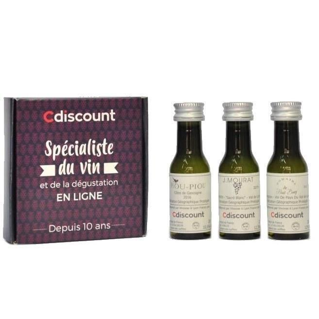 COFFRET CADEAU VIN Coffret 3 Vinottes de Vin Blanc d'Apéro de 2 cl +