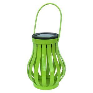 LAMPE DE JARDIN  GALIX Lampe de table solaire Vase en métal - Vert