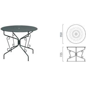 Table de jardin pliante ronde - Achat / Vente pas cher - Cdiscount