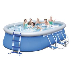 PISCINE BESTWAY Kit Piscine ovale autoportante L4,88 x l3,