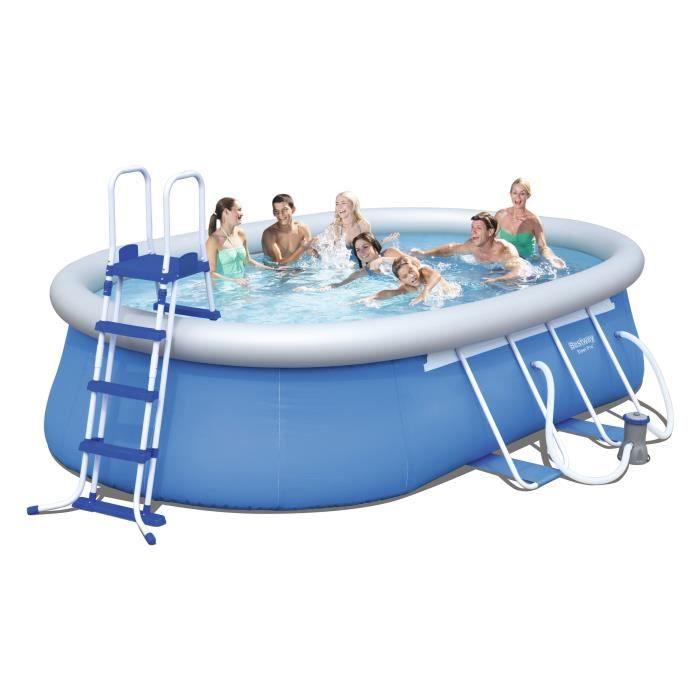 bestway kit piscine autoportante ovale 5 49x3 66x1 22m achat vente piscine kit piscine. Black Bedroom Furniture Sets. Home Design Ideas