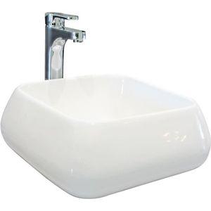 LAVABO - VASQUE AQUA+ Vasque en céramique Ety L41xP41xH16 cm