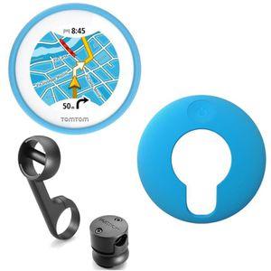 GPS AUTO TomTom VIO GPS pour Scooter Housse silicone bleue