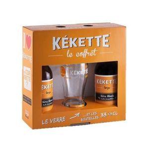 BIÈRE Coffret de 2 bières Kekette avec une verre - Blond