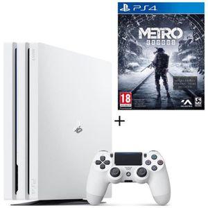 CONSOLE PS4 NOUVEAUTÉ Pack PS4 Pro 1 To Blanche + Metro Exodus