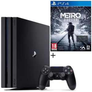 CONSOLE PS4 NOUVEAUTÉ Pack PS4 Pro 1 To Noire + Metro Exodus