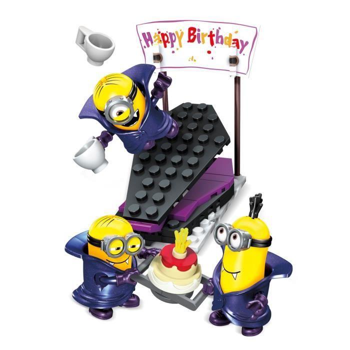 Magnifique LES MINIONS Mega Bloks - Pack Figurine Vampire Joyeux anniversaire #JE_85