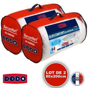SUR-MATELAS DODO Surmatelas 2 x 80 x 200 -  Polyester thermoli