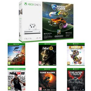 CONSOLE XBOX ONE Xbox One S 1 To Rocket League+ NBA 2k19 + Fallout