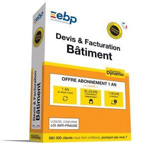 BUREAUTIQUE EBP Devis & Facturation Bâtiment DYNAMIC 12 mois -