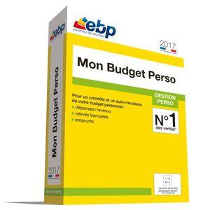 BUREAUTIQUE À TÉLÉCHARGER EBP Mon Budget Perso 2017