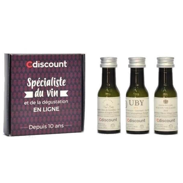 COFFRET CADEAU VIN Coffret 3 Vinottes Vins Blanc de France de 2 cl +