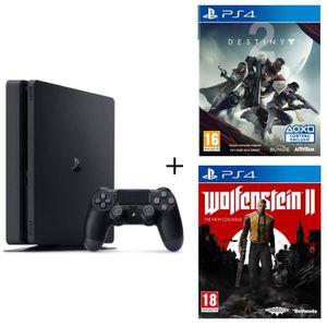 CONSOLE PS4 NOUVEAUTÉ Nouvelle PS4 500 Go Noire + 2 Jeux PS4 : Destiny 2
