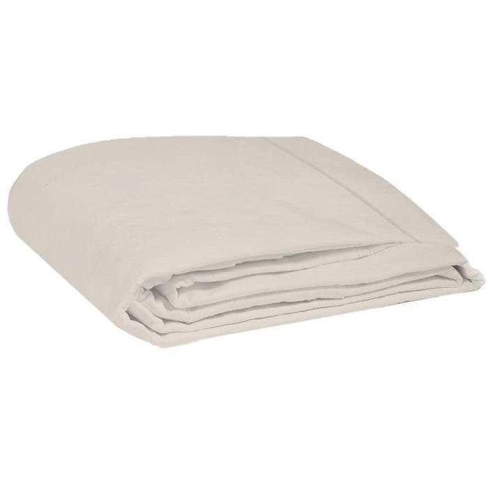 DRAP PLAT COTE DECO Drap plat 100% coton lavé 270x290 cm - B