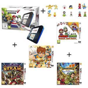 CONSOLE 2DS 4 jeux + console 2DS Bleue & Mario Kart 7 Préinsta