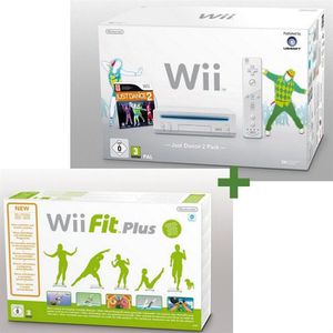 CONSOLE WII Wii BLANCHE + JUST DANCE 2 + Wii FIT PLUS