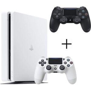 CONSOLE PS4 Pack PS4 500 Go Blanche + 2ème manette DualShock 4