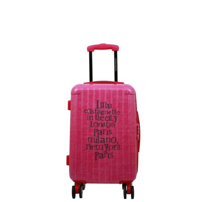 lulu castagnette valise cabine rigide abs 8 roues 55 cm tba fuchsia fuchsia achat vente. Black Bedroom Furniture Sets. Home Design Ideas