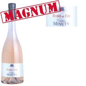 VIN ROSÉ Magnum Rose & Or Minuty 2015 Côtes de Provence vin