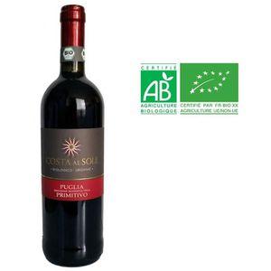 VIN ROUGE PUGLIA 2016 Costa Al Sole Primitivo Vin rouge d'It