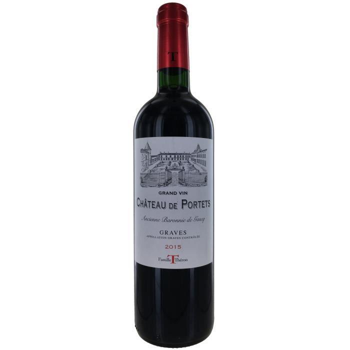 VIN ROUGE Château de Portets 2015 Graves - Vin rouge de Bord