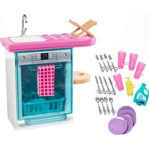 MAISON POUPÉE BARBIE - Lave Vaisselle - Mobilier de Poupée & acc