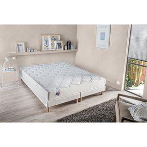 sommier tapissier 180x200 avec pied et matelas achat vente sommier tapissier 180x200 avec. Black Bedroom Furniture Sets. Home Design Ideas