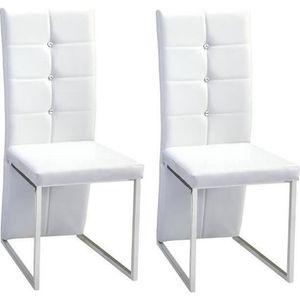 chaise bling lot de 2 chaises de salle manger simili