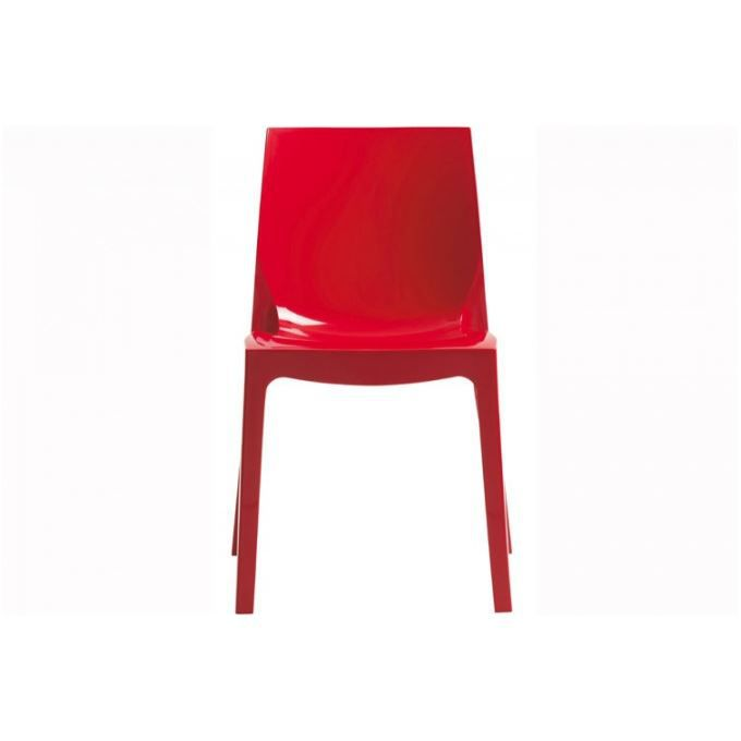 Chaise Design Rouge Laque Victory