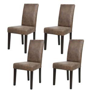CHAISE ALBUS Lot de 4 chaises de salle à manger vintage m decebc227f74