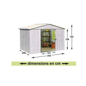 abri de jardin 7m2 achat vente abri de jardin 7m2 pas cher soldes d s le 10 janvier cdiscount. Black Bedroom Furniture Sets. Home Design Ideas
