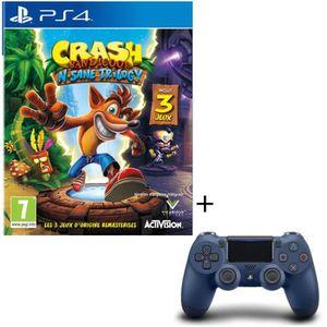 PACK ACCESSOIRE Crash Bandicoot N. Sane Trilogy + Manette PS4 Dual
